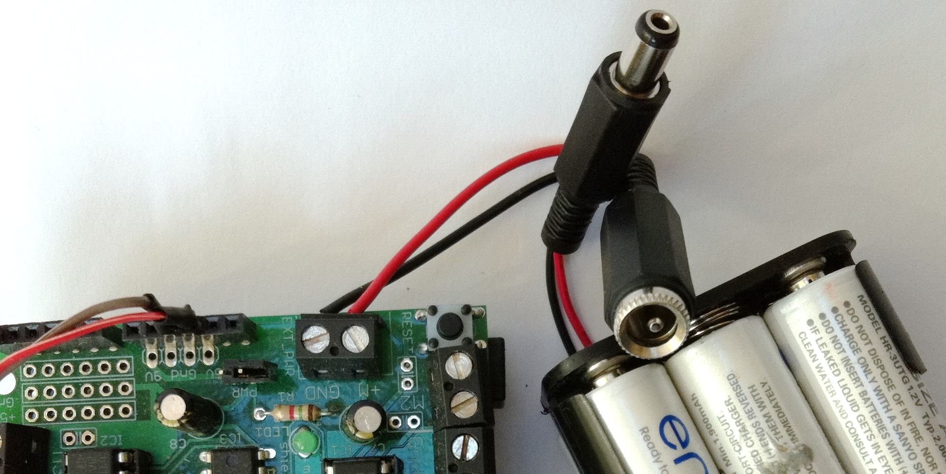 January 2011 Chaos Its Not Just A Theory Wiring Arduino Motor Shield Barrel Jack