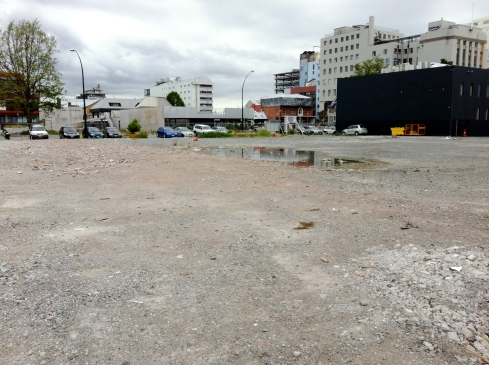 One of *many* cleared sites in central Christchurch.