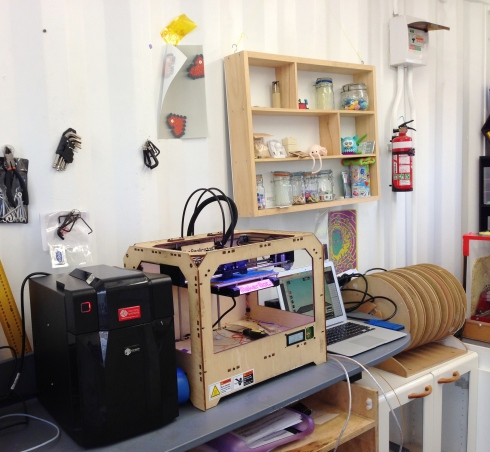 3-D printers, including the MakerBot