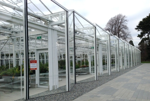 Looking along the glasshouses (apparently blinds come down when it is sunny)