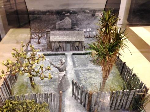 Diorama of a settlers garden